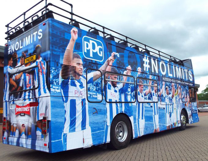 Huddersfield Town FC - Promotional Bus Wrapping