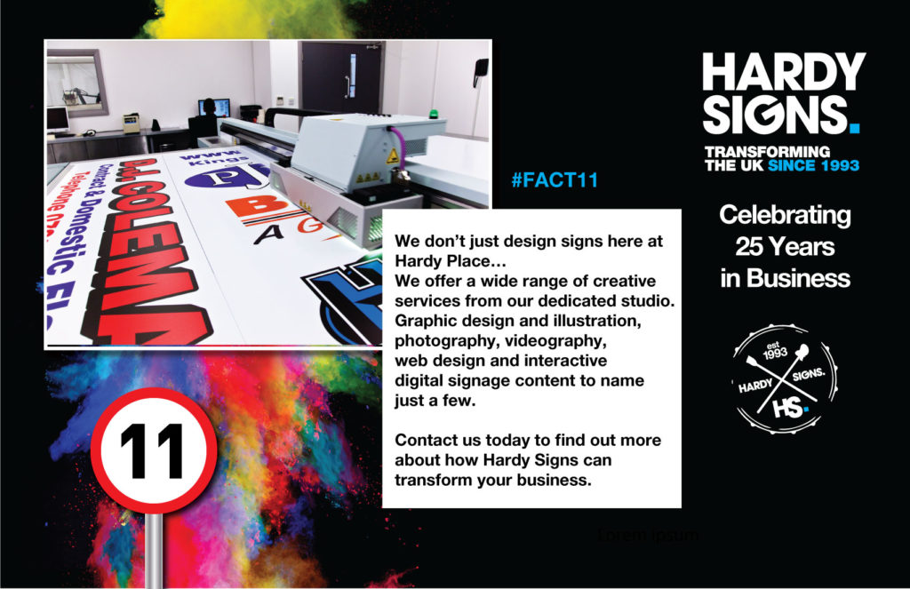 Hardy Signs | 25 Years Anniversary | 25 Facts | Fact 11 | 1