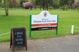 Drayton Park Golf Club | Outdoor signage | Welcome Sign | Hardy Signs | 2018 | 3