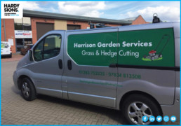 Harrison Garden Services - Hardy Signs - Vehicle Signage