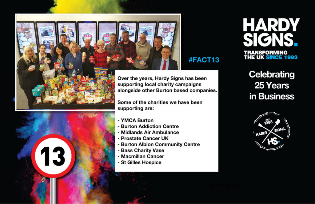 Hardy Signs | 25 Years Anniversary | 25 Facts | Fact 13 | 1
