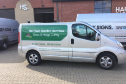 Harrison Garden Services | Vehicle Signage | Vehicle Graphics | Hardy Signs | 2018 | 2