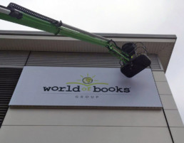 World of books | Outdoor Signage | Fascia Signage | Hardy Signs | 2018 | 1