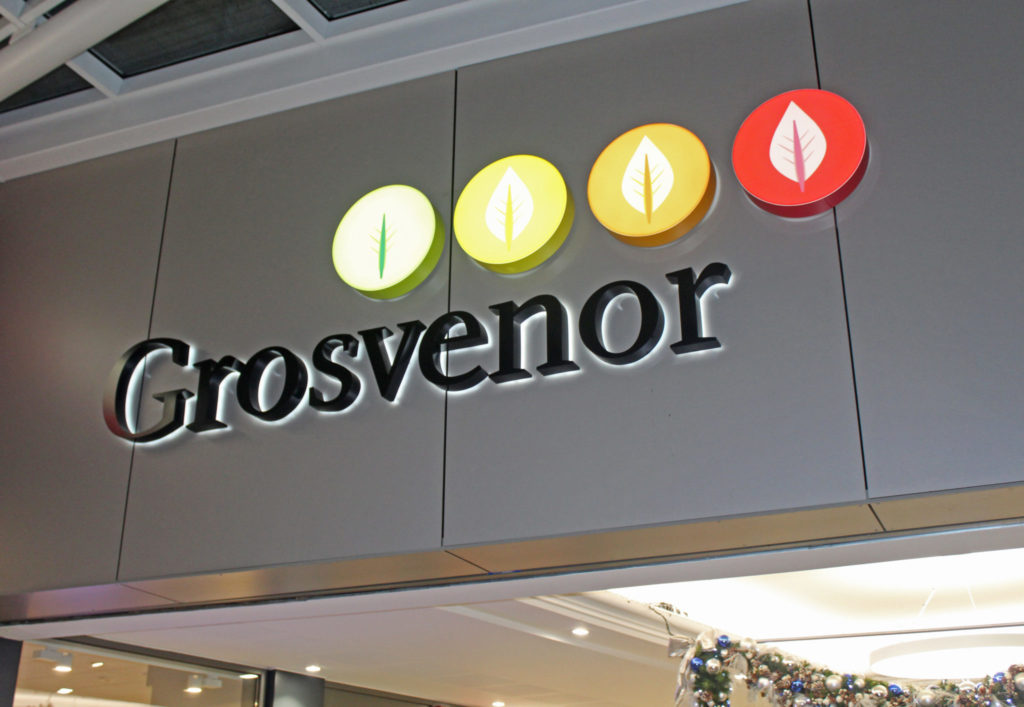 Grosvenor Shopping Centre | outdoor Signage | Exterior Signage | Hardy Signs | 2019 | 10