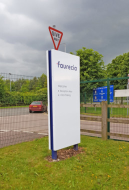 Faurecla | outdoor Post & Panel Signs | Hardy Signs | 2019 | 11