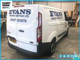 Evans - Hardy Signs - Vehicle Graphics