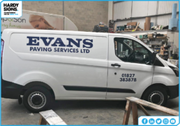 Evans Paving Services | Vehicle Graphics | Hardy Signs | 2019