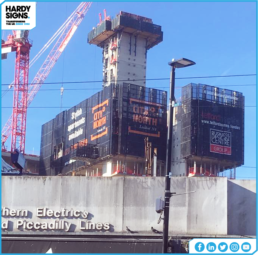 London | City North | Ischebeck Titan | Cladding Screens | Hardy Signs | 1