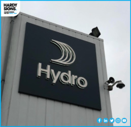 Hydro - Illuminated Signage - Hardy Signs