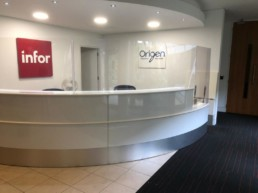 Reception Signage - Hardy Signs - Office Signs - Perspex Screens - Infor