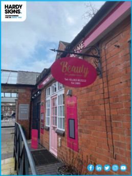 Beauty by Laura Jayne - Hardy Signs - Projected Signs