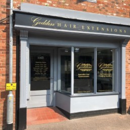 Goddess Extensions - Hardy Signs - Window Graphics