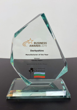2019 Manufacturer of the Year - East Midlands Chamber of Commerce - Hardy Signs Ltd